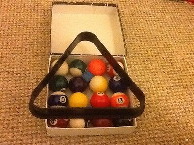 Pool Balls and Triangle 4ft Table