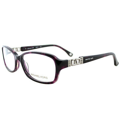 New Michael Kors MK 217 502 Purple Horn Plastic Oval Eyeglasses 54mm