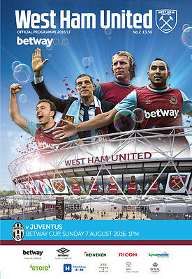 West Ham United V Juventus- Official Programme- Friendly- 7Th August 2016