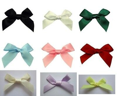 Craft Embellishment 7mm Ribbon Bows approx 35mm wide 6 colours 10 or 25 pack