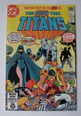 The New Teen Titans # 2 (Dec 1980)  9.6 NM+ WP!   Signed Marv Wolfman