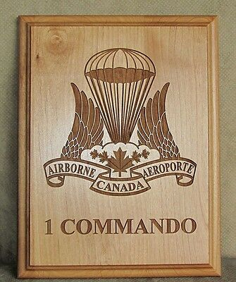 Canada Army Canadian Airborne Regiment ( 1 COMMANDO ) Engraved Wooden Plaque