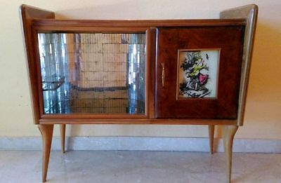 Antique Design Vintage Italian Art deco Cherry Cocktail Cabinet/Drinks Bar c1940