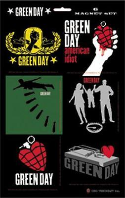 GREEN DAY 6 magnets COLLECTABLE MAGNET SET - Official  merchandise