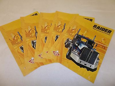 Lot of 5 Collectible Diamond Reo Raider Truck Brochure New Old Stock