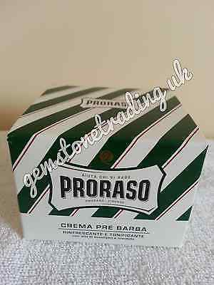 *SECONDS* Proraso pre shave cream green XL 300ml pot with Eucalyptus and Menthol