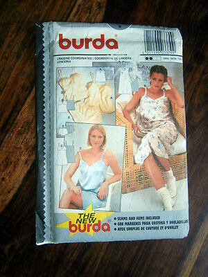 Oop Burda 3379 Lingerie camisole slip panties french knickers size 8-18 NEW
