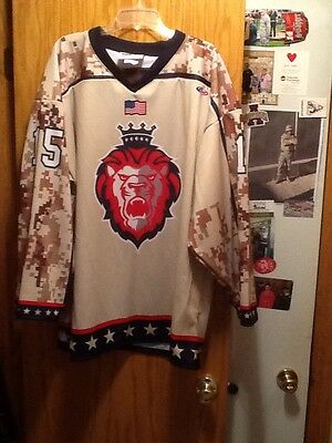 Reading  Royals Game Worn Military Tribute Jersey 2016/17 Nhl Ahl Flyers