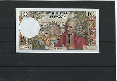 France - Fay 62/18 - 10 Francs Voltaire - 02/12/1965 - Alphabet K205 - Neuf