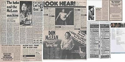 DON McLEAN : CUTTINGS COLLECTION