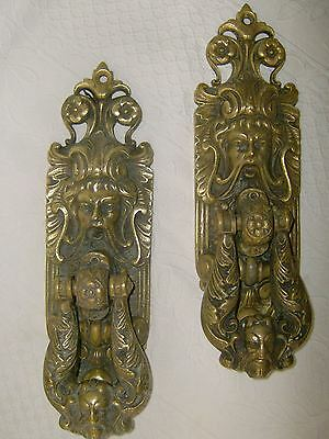 2 Huge Palace knob . Bronze. ANTIQUE. Weight  4 KG. !