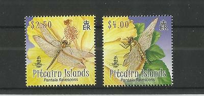 Pitcairn Islands 2009 Dragonfly Sg,788-789 Um/m Nh Lot 1548A