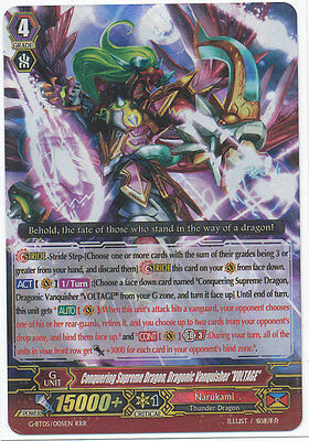 "Cardfight Vanguard Conquering Supreme Dragon, Dragonic Vanquisher ""Voltage"" RRR"