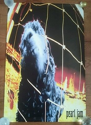 1993 Official Sony Epic Pearl Jam VS Poster Clean Rolled 24x36 Vintage Vedder