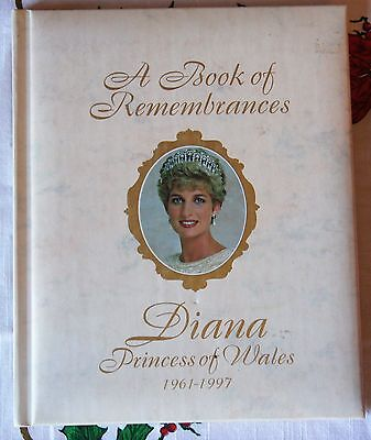 """A BOOK OF REMEMBRANCES DIANA PRINCESS OF WALES 1961-1997 Size 9""""x11"""" mm"""