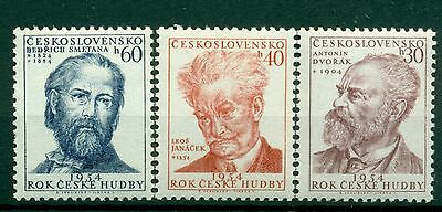MUSIQUE - MUSIC CZECHOSLOVAKIA 1954 National Composers