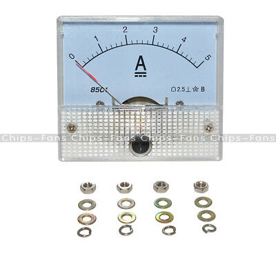 New CY 85C1-A  85C1 Analog Current Panel Meter DC 5A AMP Ammeter White