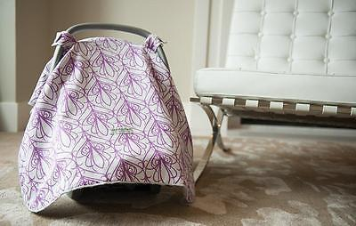 Carseat Canopy 100% Cotton Infant Car Seat Canopy Cover, Mikayla, NEW