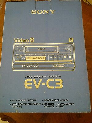 Sony Video8 VCR EV-C3 new in box NOT FULLY TESTED