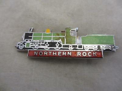 Vintage 'northern Rock' Steam Train Enamel Pin Badge. B187