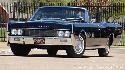 1967 Lincoln Continental Convertible  1967 Lincoln Continental Convertible TRIPLE BLACK 4 Door *** VIDEO***