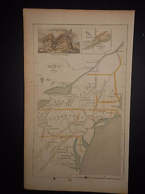 Virginia Pennsylvania New York Indian Tribes 1763 Map Hand Colored
