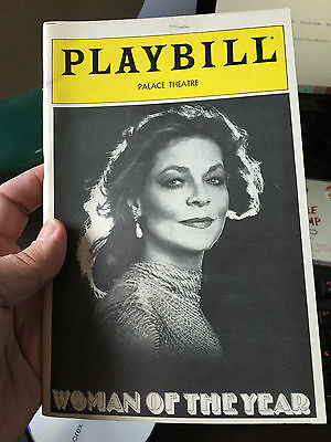 Woman Of The Year Playbill - Lauren Bacall - Great Condition