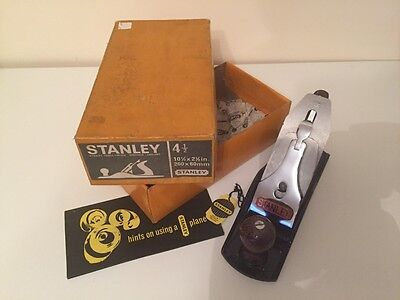 Early Stanley Bailey No4 1/2 Smooth Plane Boxed