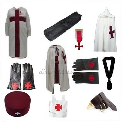 masonic regalia-KNIGHTS TEMPLAR (KT) PACKAGE (MANTLE/TUNIC/CAP/GLOVES/CASE)