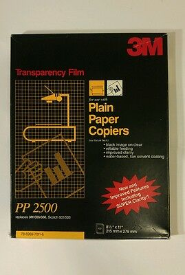 3M Transparency Film PP2500 100 Sheets Open New for copiers