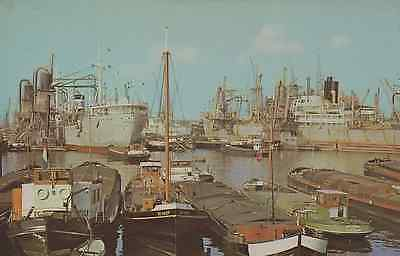 Old Photograph: Maashaven Harbour, Rotterdam,Holland.