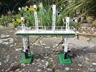 "Ace Trains O Gauge ACS/3 Signal Gantry ""All Distant"" Yellow Signal Ed Elec NEW"