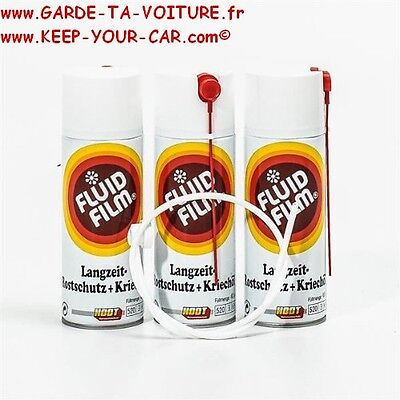 3x Fluid Film AS-R Spray anticorrosion 400ml + sonde pour corps creux