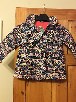 Girls george coat flower patteren 3-4 years