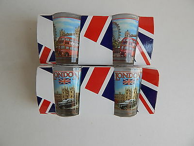 London Shot Glasses Pack Of 2 Great Gift For Hen Stag Party Birthdays Christmas