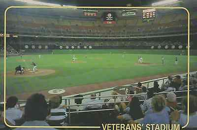 Old Postcard: Phillies at Veterans' Stadium, Philadelphia, United States