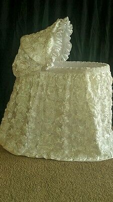 Rosette Bassinet Cover - Many Colors to Choose From