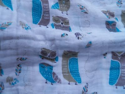 Aden and Anais Swaddle Blankets - Owly Owl Design 100%cotton Brand New