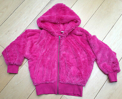 ~Pink Next Fluffy Bomber Hoody Jacket Age 12 Yrs Girls Nwot~