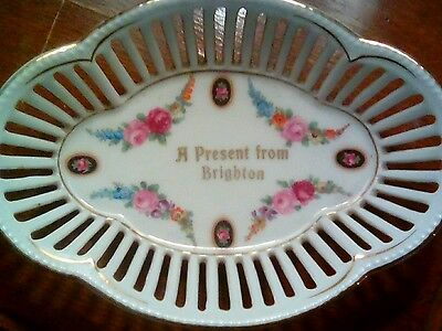 Antique/vintage Victorian souvenir A present from Brighton china dish