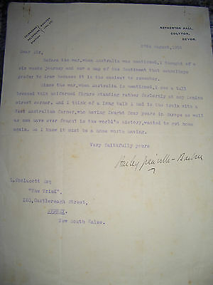 Typed letter signed by the actor and director, Harley Granville-Barker, 1924