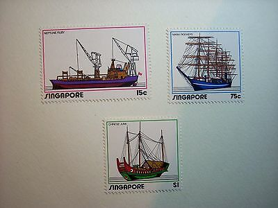 Singapore 1972 Shipping Set 3  Mnh Sg185/7