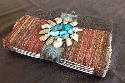Handmade journals / memory keepers - handmade paper, pendants NATIVE SPIRIT 14
