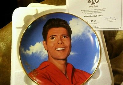 "Cliff Richard Forty Glorious Years"" Early Days"" plate Danbury"