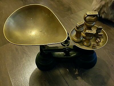 Vintage Librasco Kitchen Scales With Bell Weights