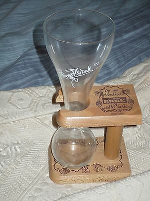 Kwak glass, with wooden stand