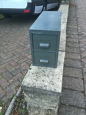Industrial Vintage Drawers Small Metal Filing Cabinet