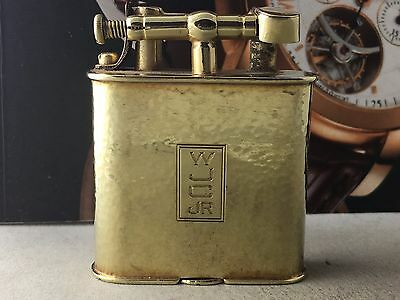 Antique Dunhill Solid 14k Yellow Gold Art Deco Lighter