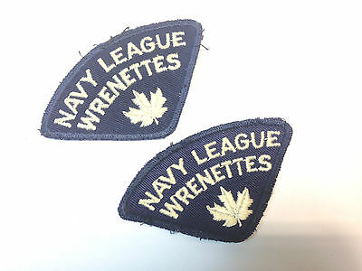 Canadian Navy League WRENETTES (x2) Patches