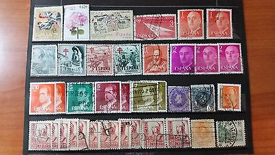 SPAIN-ESPAÑA stamps som old lot of 38